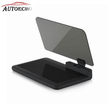 H6 Car Head Up Display ABS Smartphone Projector Holder Car GPS Navigator Mount Stand Phone Black Non-slip Fold Mat HUD