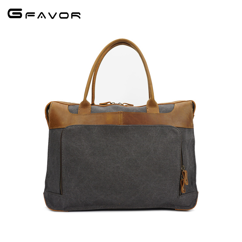 Vintage G-FAVOR Canvas Handbag Men Laptop Bag Business Shoulder Messenger Bags Male Computer Bag Fashion Travel Crossbody Bags high quality men canvas bag vintage designer men crossbody bags small travel messenger bag 2016 male multifunction business bag