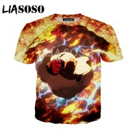 LIASOSO Summer New Men Women T-Shirt 3D Print Cute Anime One Punch Man Sweatshirt Fashion Unisex Short Sleeve Top Pullover A010  5
