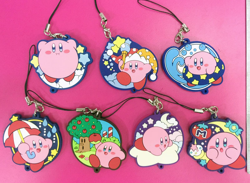 7 pcs/set Genuine anime game Super Mario Star Kirby figures toy 14 different Kirby pvc figure phone strap/keychain pendant toys yt0286 italy 2013 luca renaissance wall map 1 new 0521