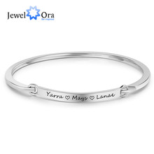Personalized ID Braceles Customize Engrave Name 2 Colors Fashion Bracelets & Bangles for Women (JewelOra BA102095)(China)