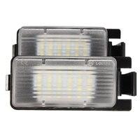 2Pcs White LED License Plate Light Replacement For NISSAN 350Z 370Z GTR For INFINITI G25 G35