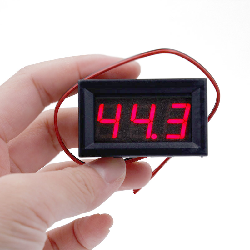 Red LED Panel Mini Digital Two-wire Voltmeter DC 5V To 120V voltage tester volt meter for car 10%Off digital voltmeter dc 4 5v to 30v digital voltmeter voltage panel meter red blue green for 6v 12v electromobile motorcycle car