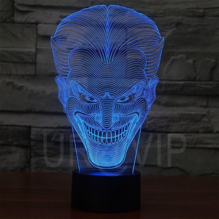 JC-2832  Amazing 3D Illusion led Table  Lamp Night Light with joker shape   (3)