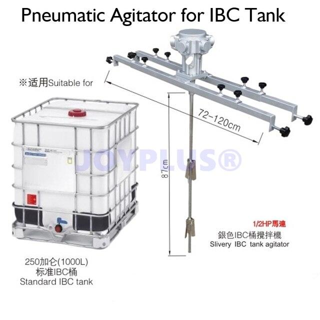 1 2hp Air Pneumatic Agitator For Ibc Tank 250 Gallon 1000 Liters