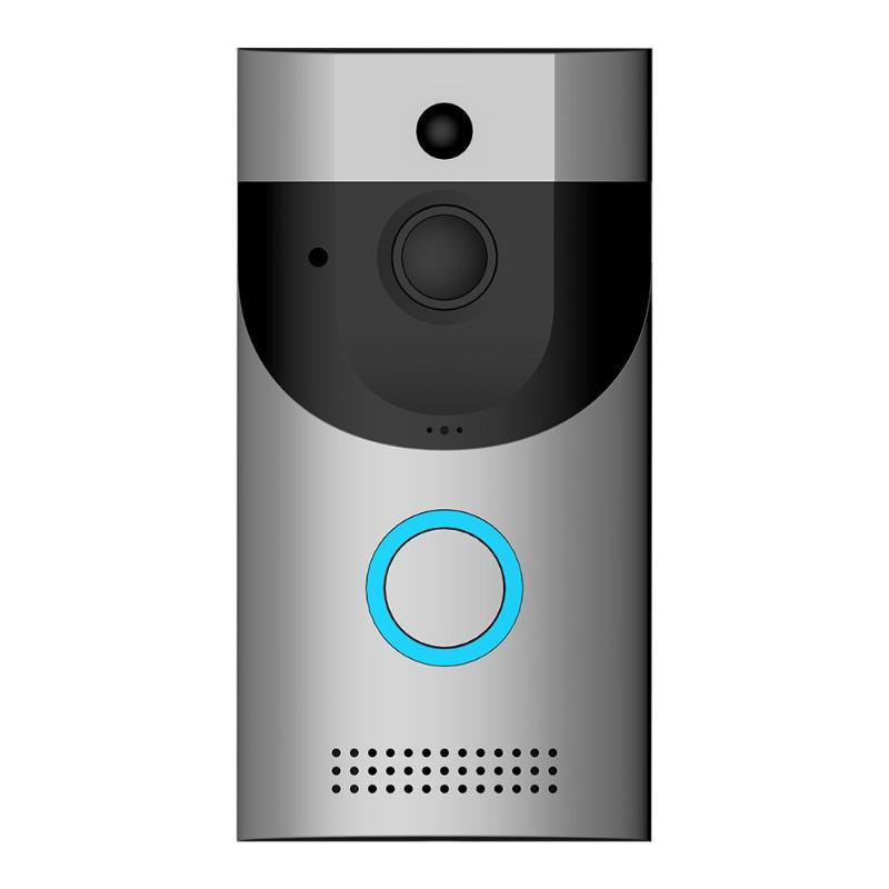 WIFI Video doorbell camera intercom system wireless home ip door bell phone chime w/ PIR Full Duplex iOS Android battery powered yobangsecurity battery operated wifi video door phone doorbell battery powered wireless video door entry intercom android ios