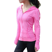 Women Yoga Jacket Long Sleeve Hooded Zipper Coat Quick-Drying Comfortable Sport Running Slim Fitness Workout Clothing 5 Colors