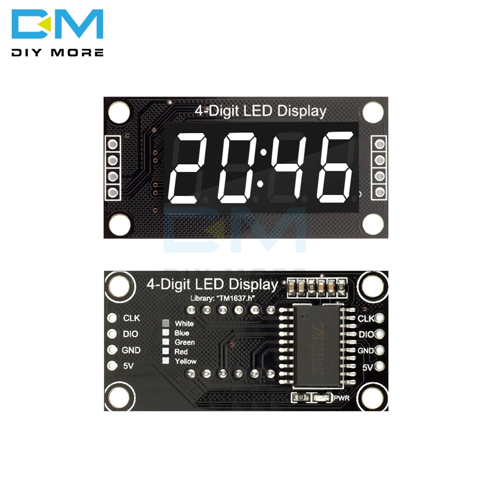 White LED 4-Digit Display Module 0.36