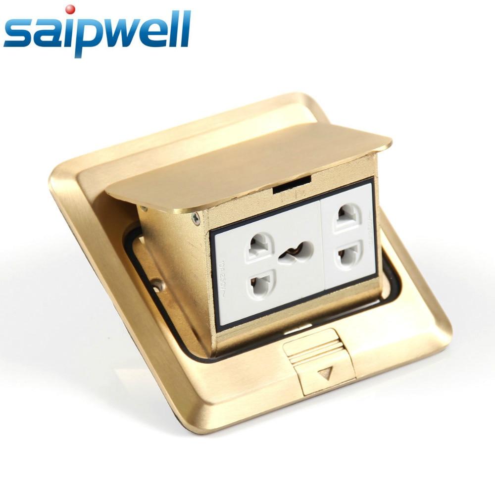 Five holes multi-function pop-up waterproof Floor socket/floor plug/gold socket outlet saip china (SP-1F04)