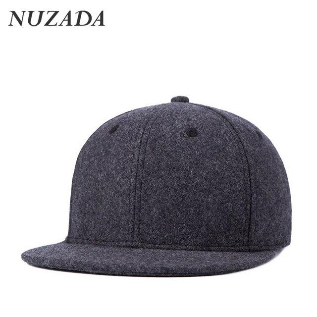 Brands NUZADA 60% Wool Autumn Winter Styles Sports Baseball Caps Men Women Hip Hop Hats Snapback Boutique Cap Bone jt-138