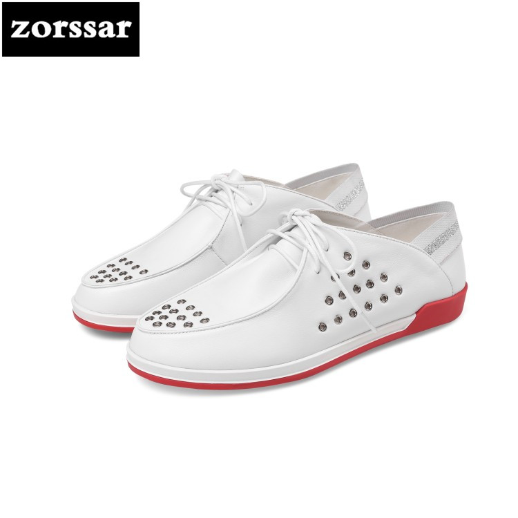 {Zorssar} 2018 New Summer Flats women Shoes Genuine Leather Leisure women flat Loafers Casual women sneakers shoes Breathable gogc 2018 new floral denim slipony women breathable shallow shoes footwear flat shoes women fashion sneakers women summer spring