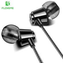 FLOVEME kulak iphone için kulaklık HIFI Stereo kablolu kulakiçi için Xiaomi kulaklık bilgisayar bas 3.5mm 1.2M mikrofon ile