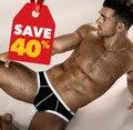 2 pc/Lot 2016 Pouplar Marca Boxeadores Para Hombre 100% Algodón de Los Hombres Atractivos mens underwear calzoncillos cortos bragas masculinas u bolsa convexa para Gay