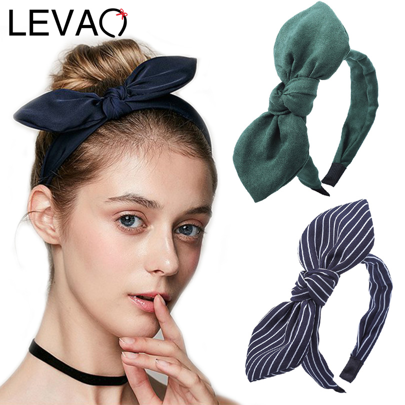 Women/'s Hairband Print Floral Bow Knotted Hair Band Headband Hair Accessories