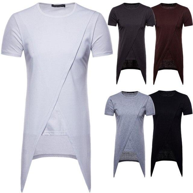 New Summer Men's Short-sleeved T-shirt Irregular Long T-shirt Mens T Shirts Fashion 2018 Nightmare Before Christmas T Shirt Men