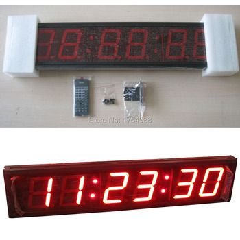 room escape game 4 inch Large Digital  LED Countdown Clock Race Clock For Marathon Running Sport Timing With Wireless Remote