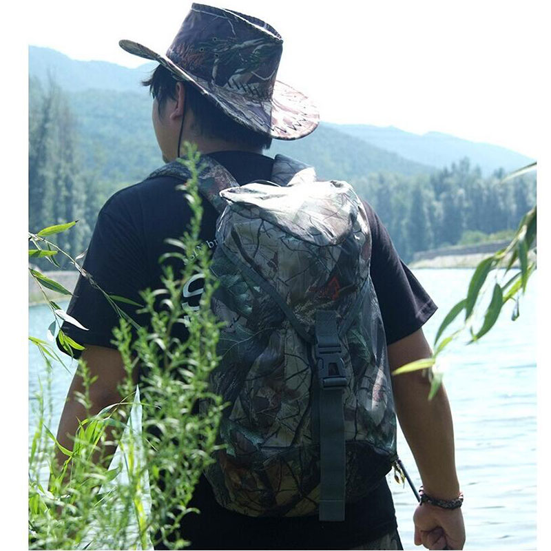 2016 New Lightweight Water Repellent Bionic Shoulders Camouflage Backpack 25L Outdoor Hunting Fishing