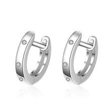 цены на Everoyal Vintage Zircon Rose Gold Hoop Earrings For Women Jewelry Fashion 925 Sterling Silver Earrings Lady Princess Accessories  в интернет-магазинах
