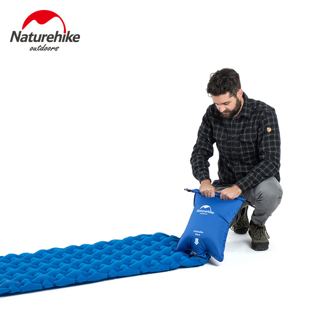 Naturehike Portable Outdoor Camping Hiking Single double Thicken Moisture-proof Inflatable Sleeping Mattress Mat Pad bed bag 4