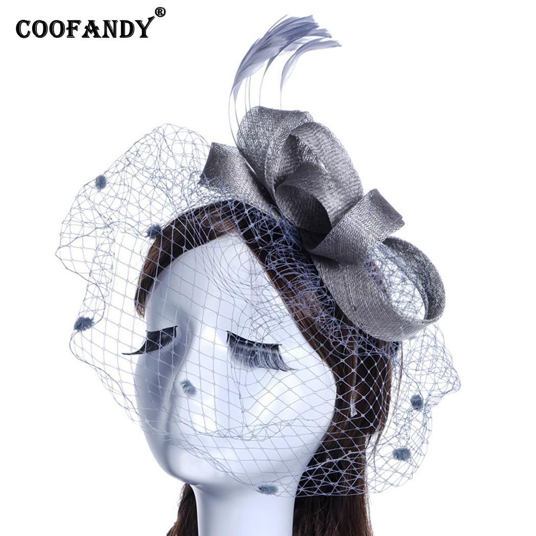 New Women Headdress Hair Clip Feather Wedding Decoration Accessories Gift