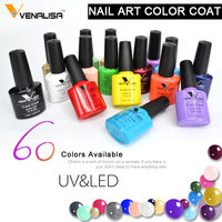 #61508 2017 new brand Venalisa hot sell soak off uv gel 60 color 7.5ml gel polish