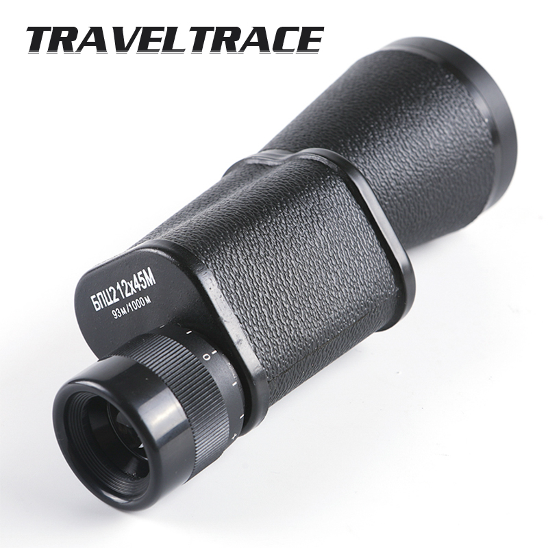 Metal 12X45 Russian Military Monocular HD High Quality Portable Telescope Large Objective Lens Diameter Spyglass Spotting Scope