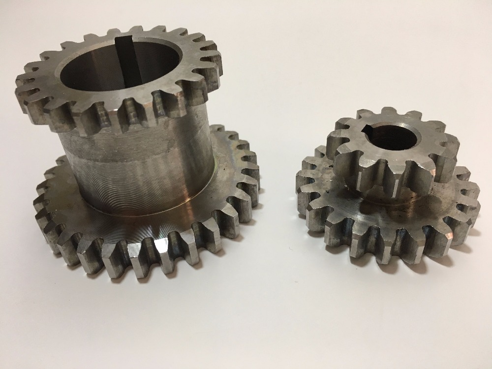 Freeshipping 2 unids/set cj0618 dientes t29xt21 t20xt12 dual dears metal Tornos engranaje duplicar engranaje Doble
