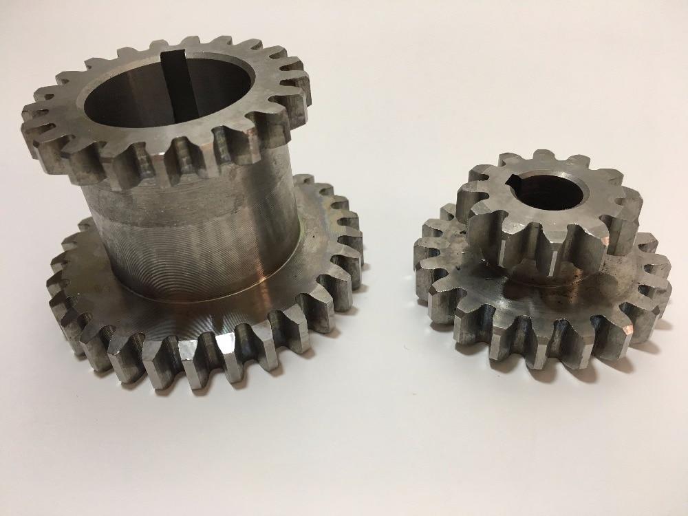 Freeshipping 2pcs/set CJ0618 Teeth T29xT21 T20xT12 Dual Dears Metal Lathe Gear duplicate gear double gear