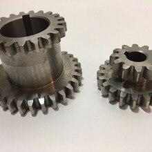 Freeshipping 2pcs/set CJ0618 Teeth T29xT21 T20xT12 Dual Dears Metal Lathe Gear d
