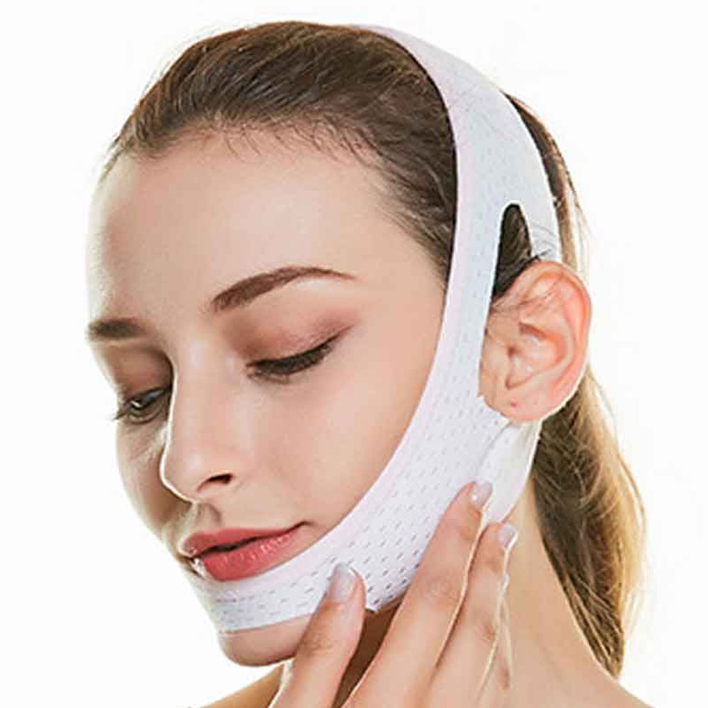 1Pcs V Line Facial Mask Chin Neck Belt Sheet Anti Aging Face Lift Up Chin Cheek Slim Lift Up Anti Wrinkle Mask 1