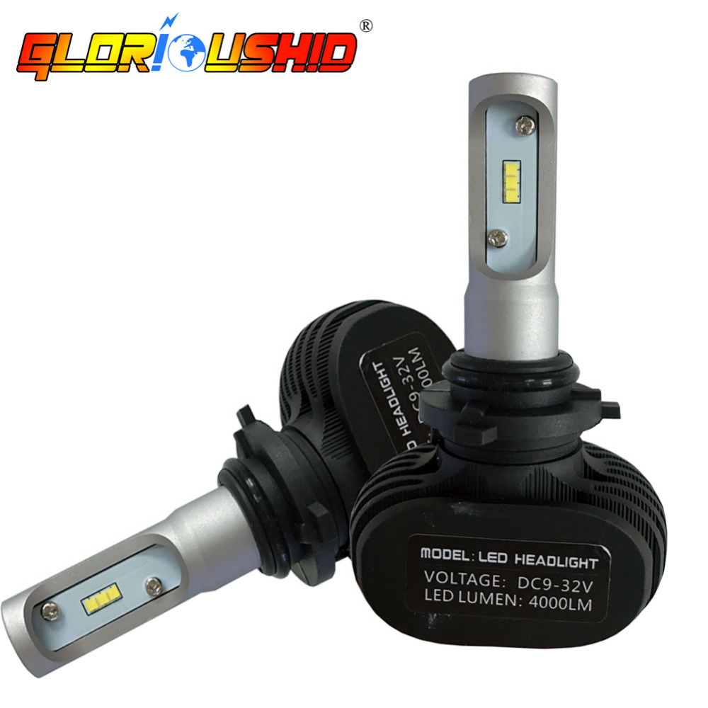 One Set Car Light Bulb 50W 8000LM 9006 HB4 LED Headlight CSP Chips Automobile Headlamp Bulb 6500k Car Styling led car headlight bulbs kit 9006 hb4 csp 50w 8000lm 6500k 12v single beam cree chips automobile headlamp fog light lamp