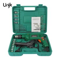 Urijk Electric Drill Kit Variable Speed Churn Impact Drill Power Tool Accessories Dremel Electric Grinder Screwdriver