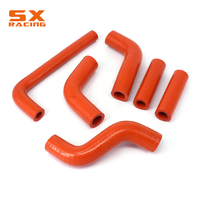 Motorcycle Orange Water Pipe Silicone Radiator Coolant Hose For KTM EXC400 EXC450 EXC525 2002 2003 2004 2005 2006 Dirt Bike