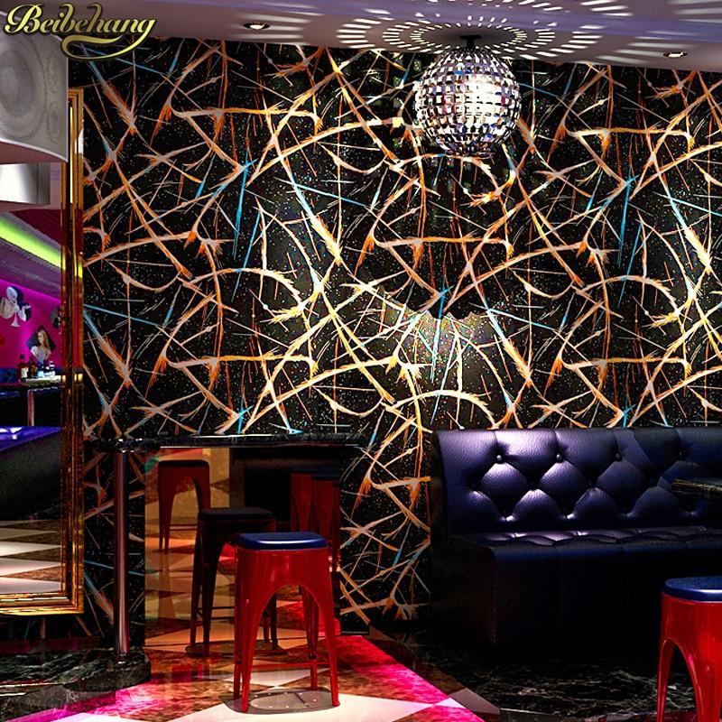 beibehang Gold foil wallpaper reflective wallpaper Popular special bar dance hall ktv 3D flash TV background wall paper flooring