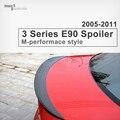 M desempenho P estilo fibra De Carbono tronco spoiler traseiro asa substituição parte para BMW série 3 E90 sedan 2005-2011 veículo 320i