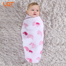 LAT Set Of 2pcs Large Premium Cotton Muslin Swaddling wrap 5-In-1 Swaddle Blanket Sleepsack Baby Cushion Nursing Cover unisex