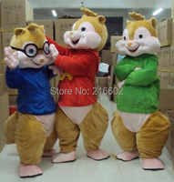 Alvin And Chipmunks Adult Szie Mascot Costume sales Fancy Dress cosplay costumes for Halloween Party Outfit