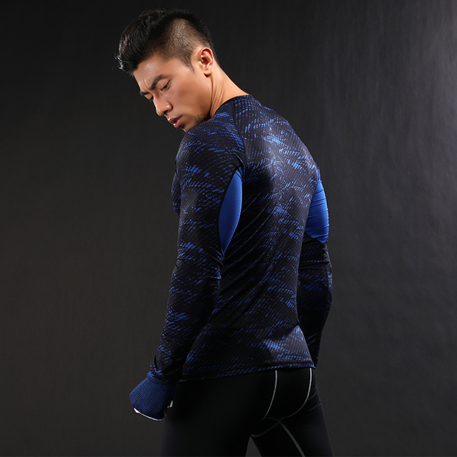 NANSHA Mens Compression Shirt Long sleeve Breathable Quick Dry T Shirt Bodybuilding Weight lifting Base Layer Fitness Tight Tops