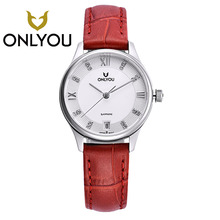 ONLYOU Men's Watch Top Brand Luxury Woman Watch Simple 10Bar Waterproof Leather Clock Men Watches Relogio Masculino Wholesales
