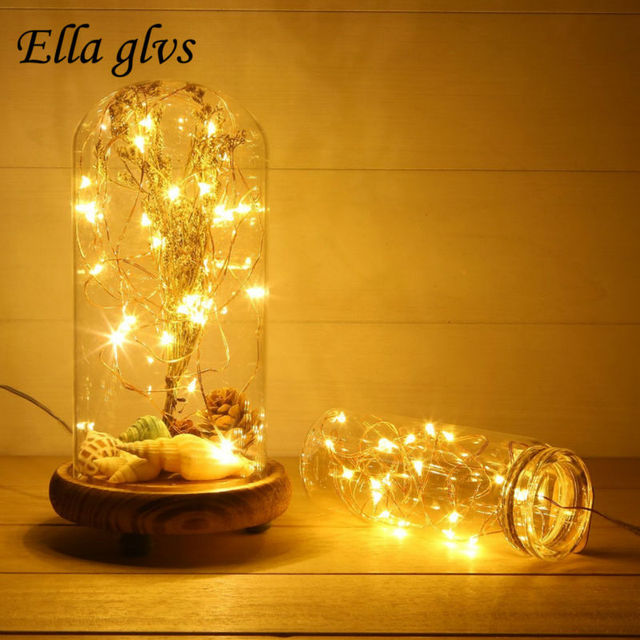 Led String Light with 3pcsAA Battery  2M 20LED 5M 50led 10M 100LED Party Wedding Decoration Christmas Fairy strip Decoration
