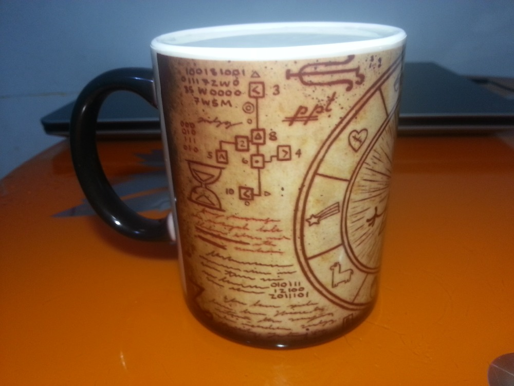 Gravity Falls mugs Dipper Pines coffee mugs magic mug heat reveal novelty heat changing color transforming