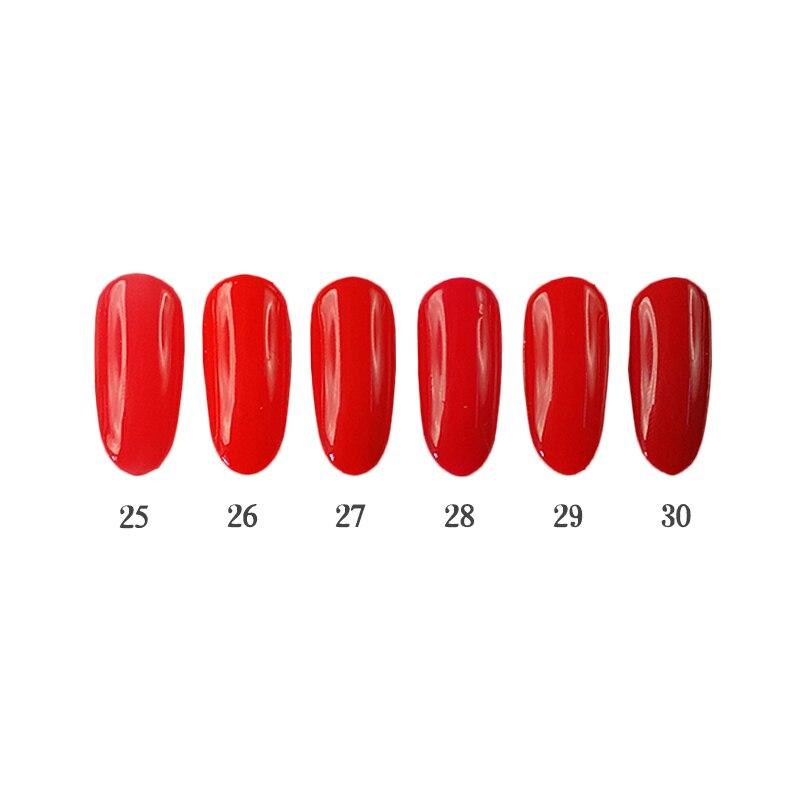 6PCS 12ml UV Nail Gel Kit Easy Apply Long Lasting LED Nail Gel Polish Makeup Using Nail Lamp QBEKA 25-30 Chili
