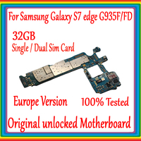 For Samsung Galaxy S7 Edge G935F /G935FD Unlocked Motherboard 32GB Europe Version 100% Original Main board