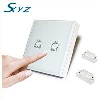 Wireless Luxury Wall Switch Full On Full Off Push Button Light LED Indicator Wireless Remote Control
