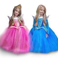 Christmas New Year Dress Of Girl S Princess Dress Children Dresses Elsa Aurora Princess Dress 2016