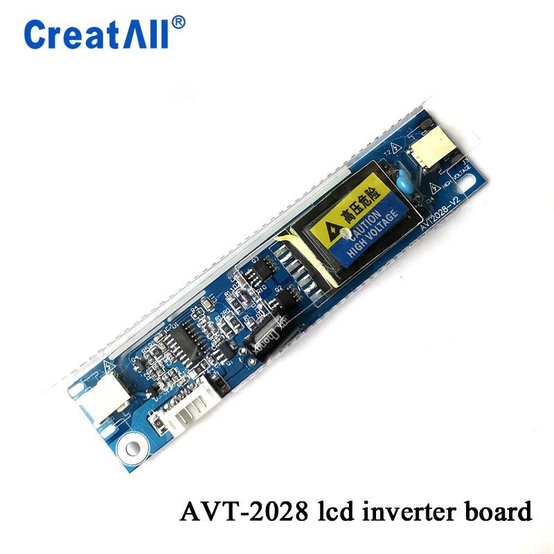AVT2028 Big Port Universal 2 Lamp CCFL Backlight Inverter Board Input Voltage 10-28V For 15-22 Inch Monitors