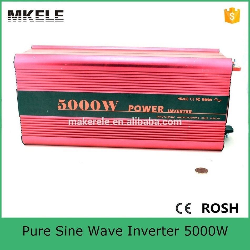 MKP5000-122R colour red pure sine wave power inverter 12v 220v 5000w,peak power 10000watt off grid type single output цена