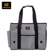 DODOPET Dog Carrier Striped Oxford Outdoor Pet Carrier Bags Small Dogs Travel Bag Pet Dog Tote Poodle Cat Bag Mesh Windows S M L