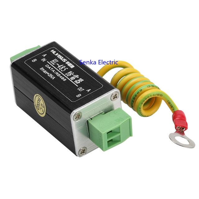 Analog Monitoring Signal Lightning Surge Protector TV RS485 5V 1.5~3.0KA Low Voltage DC Surge Protection Lightning Arrester