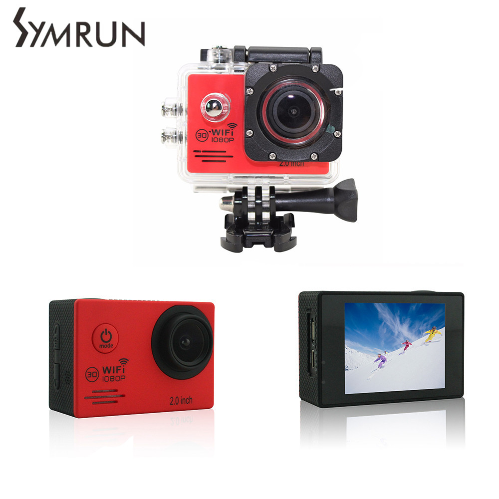 ФОТО Action Camera SJ4000 Hd Waterproof Sports Dv Wifi 1080P Action Cam Helmet Camera Bike Car Sports Mini Action Camera SJ4000